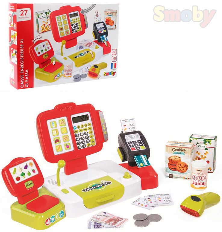 SMOBY Pokladna dětská set s funkční kalkulačkou na baterie Světlo Zvuk