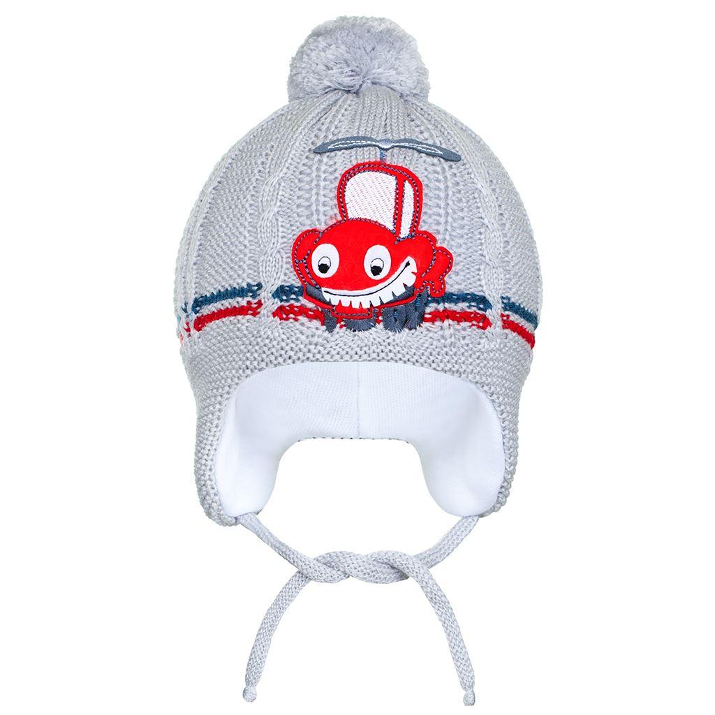 Zimní dětská čepička New Baby autíčko