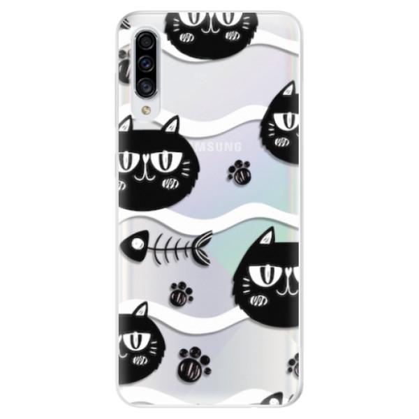 Odolné silikonové pouzdro iSaprio - Cat pattern 04 - Samsung Galaxy A30s