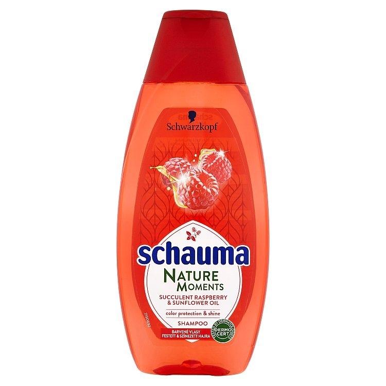 Nature Moments šťavnatá malina a slunečnicový olej šampon pro ochranu barvy a lesk 400 ml
