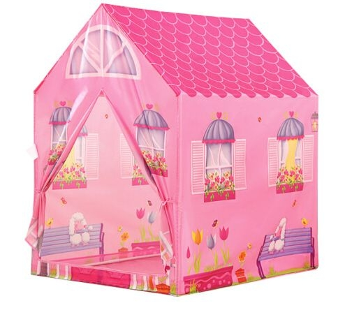 IPLAY Dětský stan - Růžový domek
