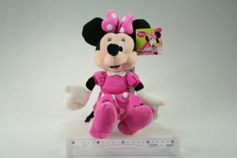 WD Plyš 25 - Minnie růžové šatičky