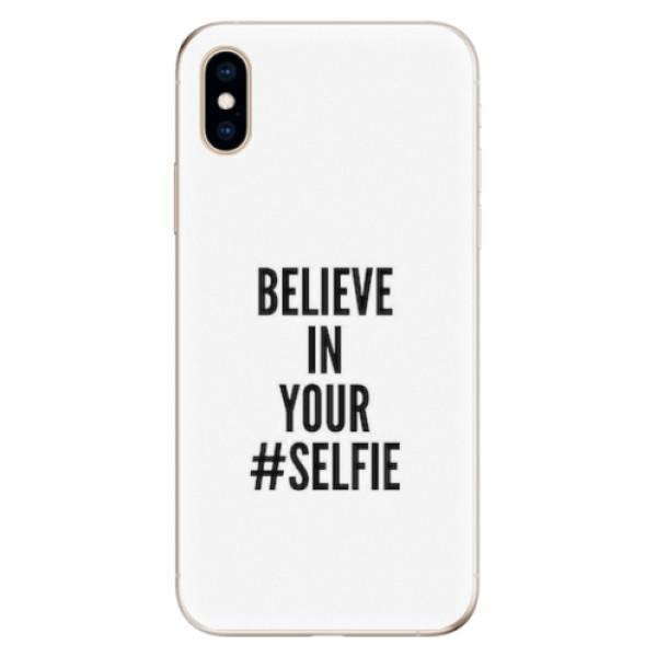 Odolné silikonové pouzdro iSaprio - Selfie - iPhone XS