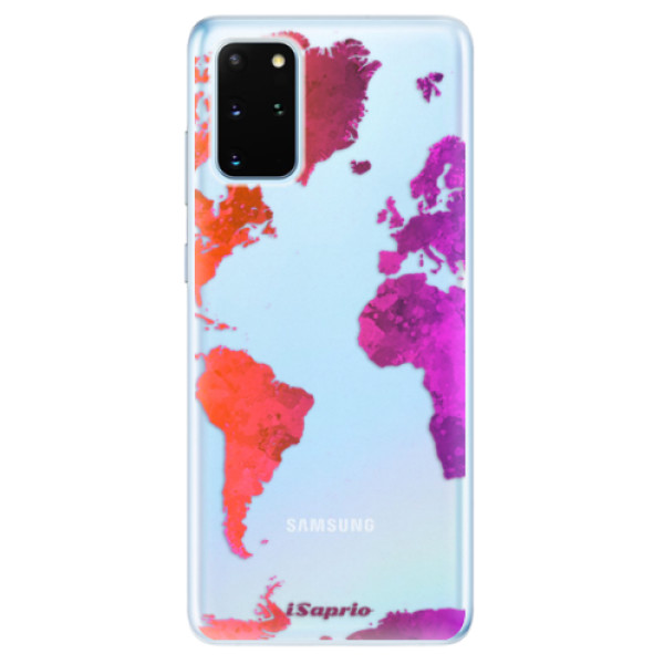 Odolné silikonové pouzdro iSaprio - Warm Map - Samsung Galaxy S20+