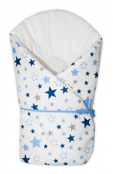 baby-nellys-zavinovacka-na-zavazovani-hvezdy-a-hvezdicky-modra-granat-na-bilem