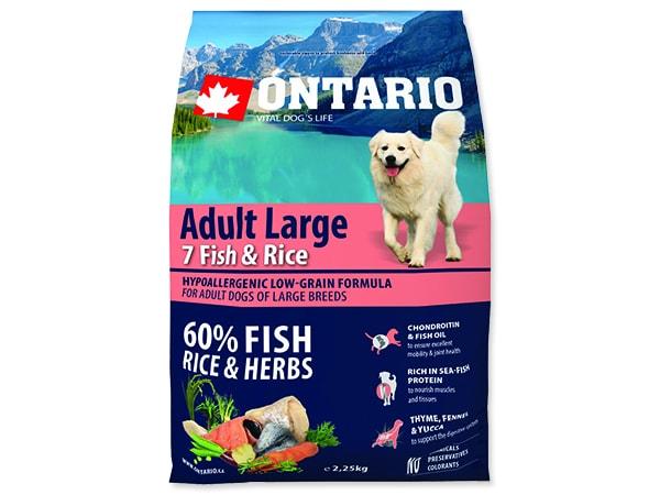 ONTARIO Dog Adult Large Fish & Rice 2,25kg