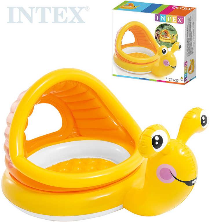 INTEX Bazének baby šnek nafukovací brouzdaliště se stříškou pro miminko