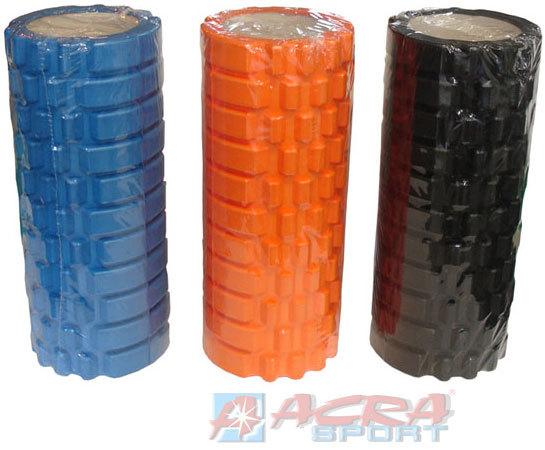 ACRA Válec masážní 33x14cm fitness roller na cvičení na rehabilitaci různé barvy