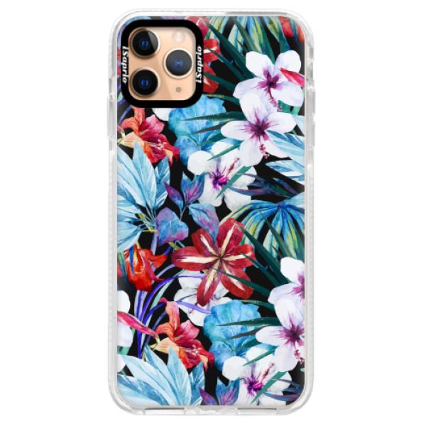 Silikonové pouzdro Bumper iSaprio - Tropical Flowers 05 - iPhone 11 Pro Max