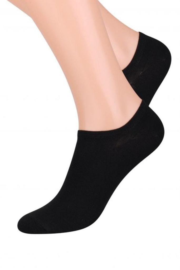 Dámské ponožky 007 Invisible black