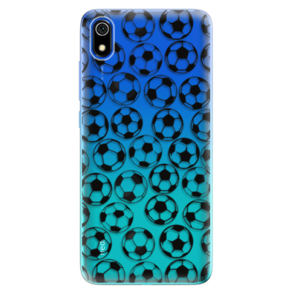 Odolné silikonové pouzdro iSaprio - Football pattern - black - Xiaomi Redmi 7A