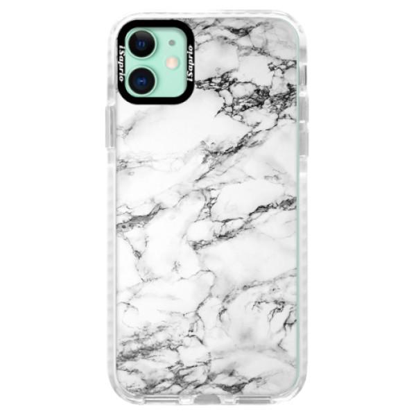 Silikonové pouzdro Bumper iSaprio - White Marble 01 - iPhone 11