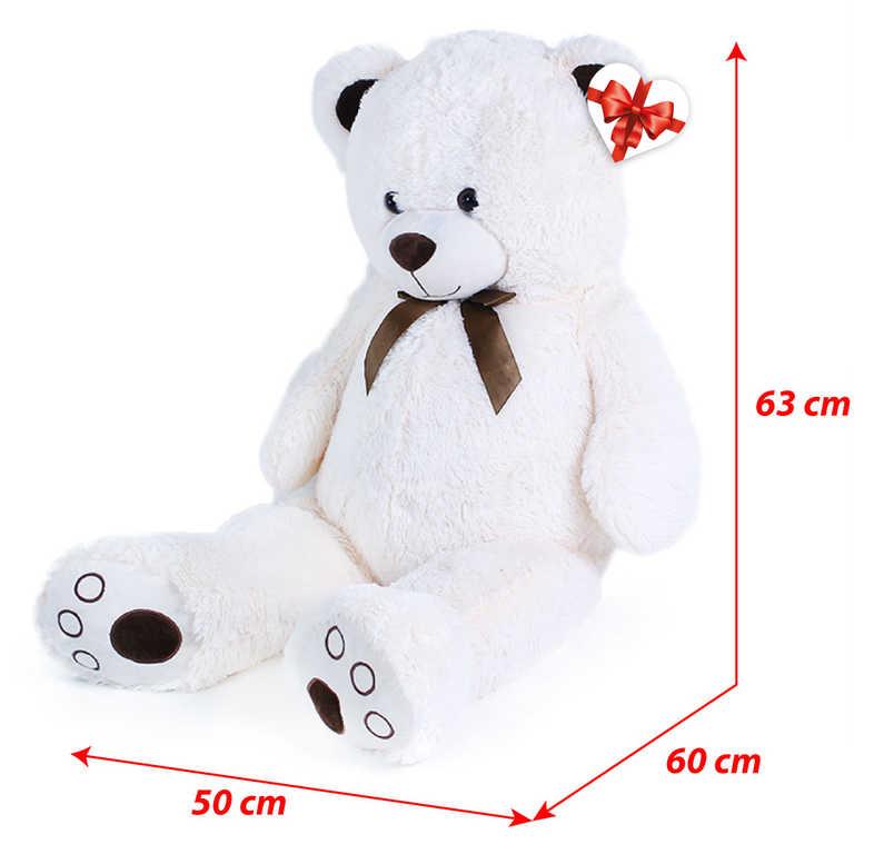 PLYŠ Medvěd Tonda 100cm krémový s mašličkou s věnováním *PLYŠOVÉ HRAČKY*