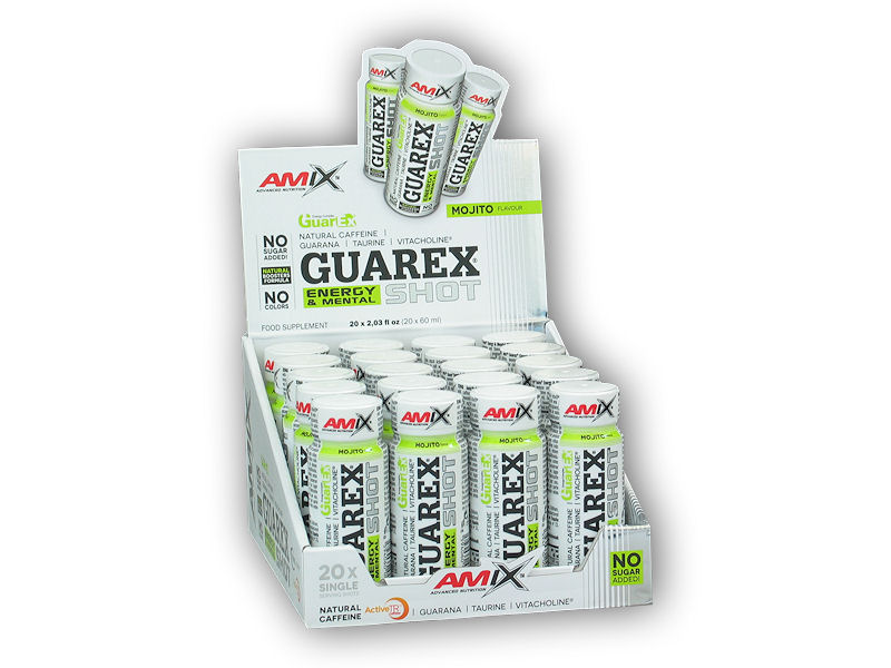Guarex Energy and Mental Shot 20x60ml-mojito