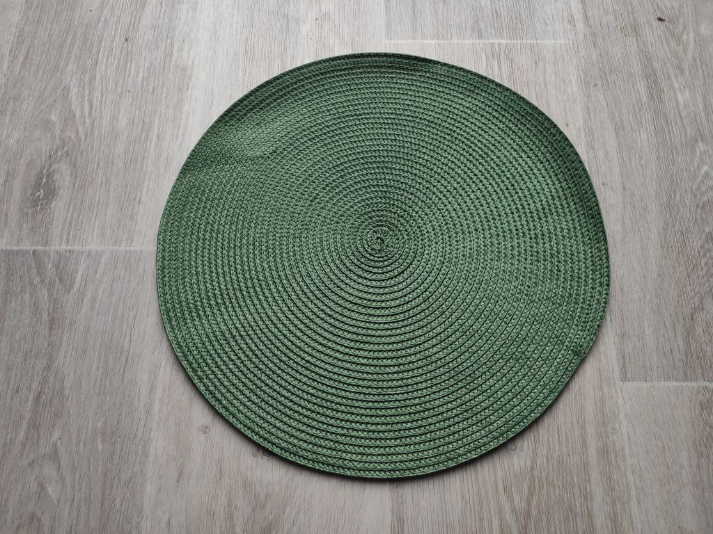 Prostírání kulaté 35 cm - zelená
