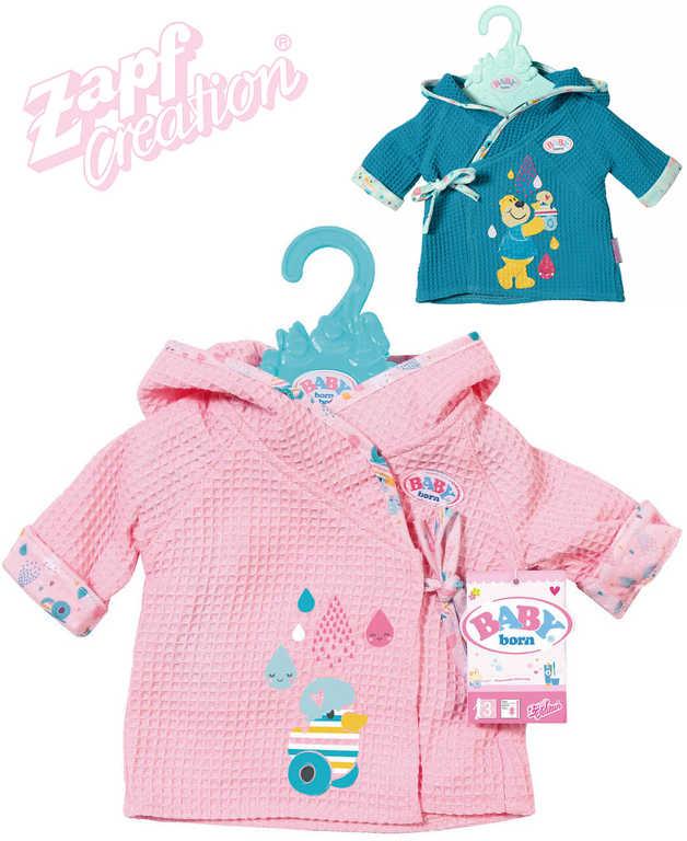 ZAPF Baby Born set župánek + ramínko obleček pro panenku miminko 2 druhy