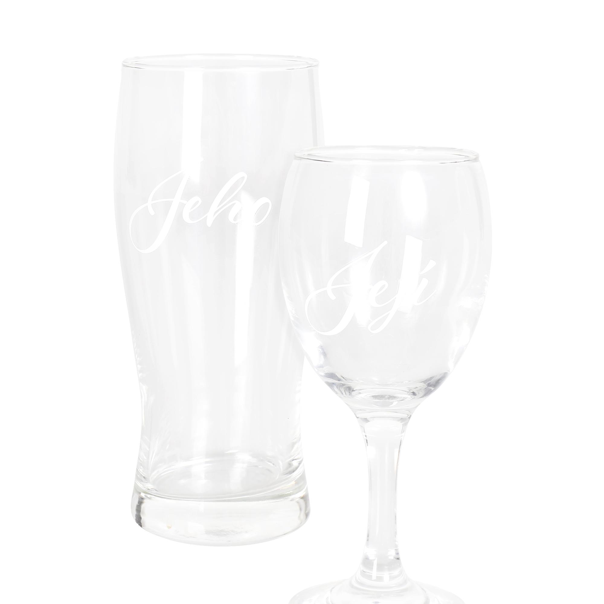 Set - sklenička a půllitr Svatba 2020