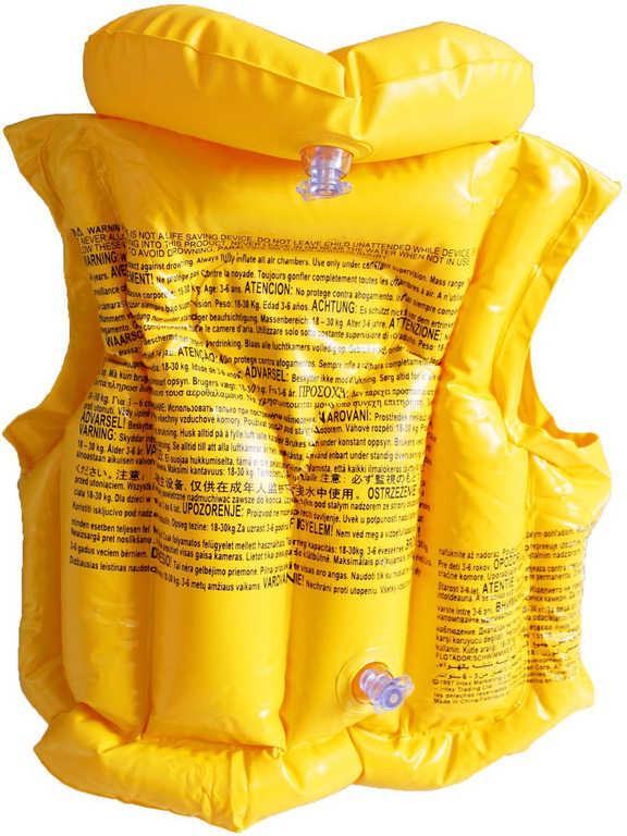 INTEX Vesta dětská s límcem nafukovací žlutá plavací do vody 58660