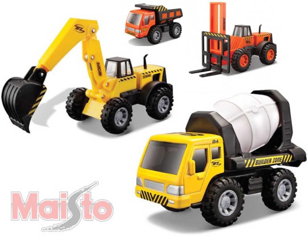 MAISTO Auto stavební 1:32-44 plast 4 druhy 2 barvy