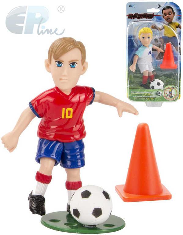 EP Line Shooters set figurka fotbalista + kužel s míčem plast 12 druhů