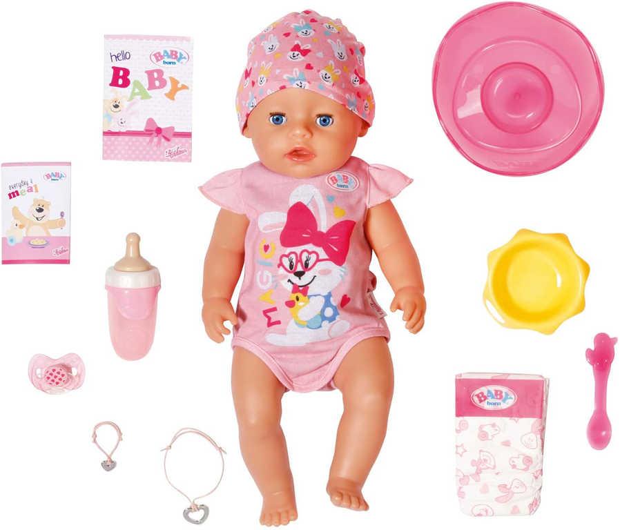 ZAPF CREATION Baby Born panenka miminko holčička kouzelný dudlík s funkcemi