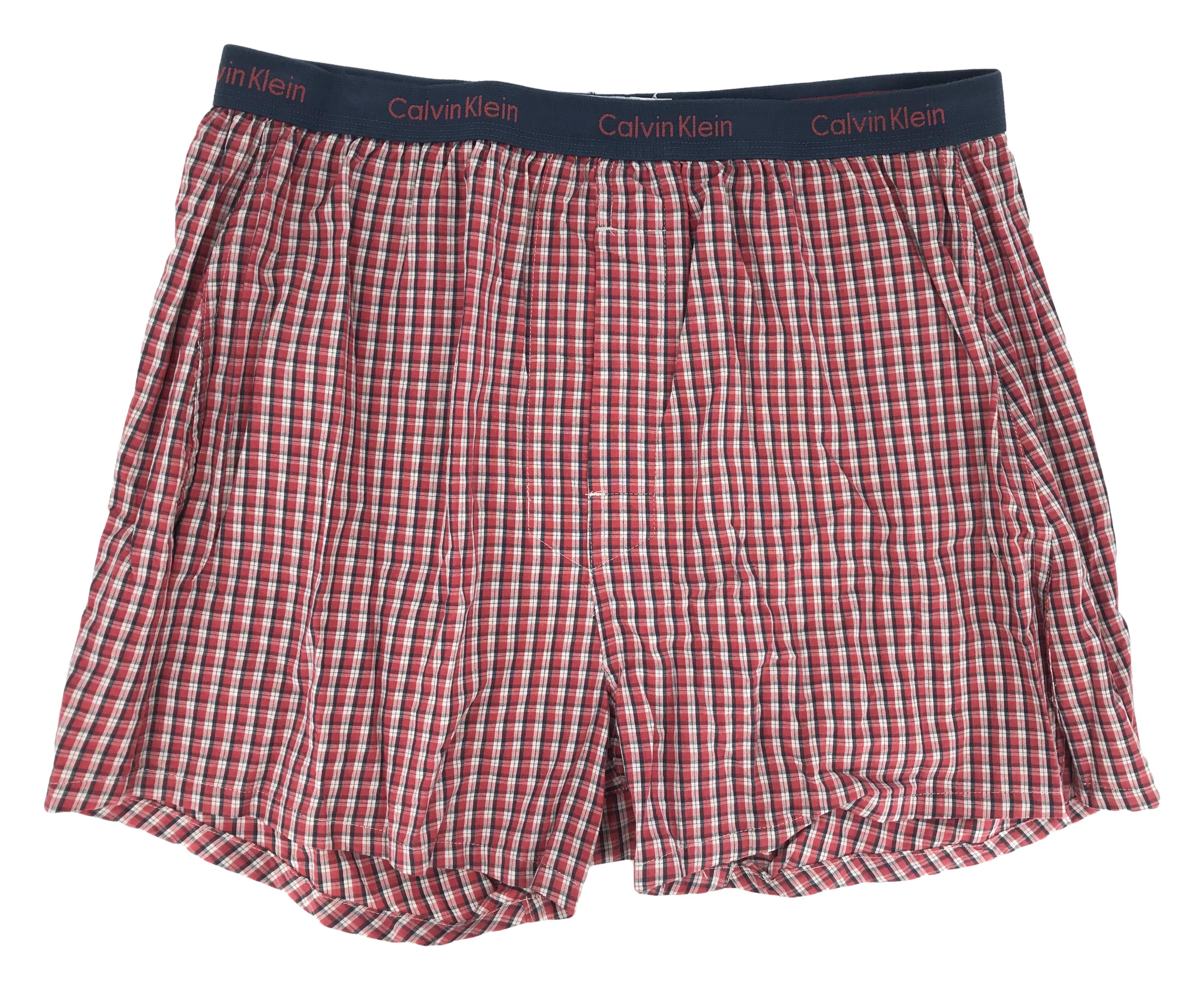 Pánské trenýrky U1500A-62L červená - Calvin Klein - Červená kostka/32
