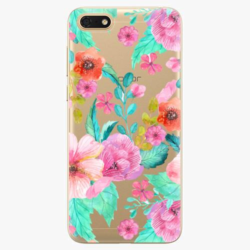 Silikonové pouzdro iSaprio - Flower Pattern 01 - Huawei Honor 7S