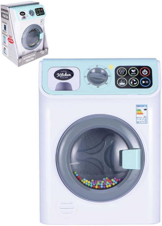 Pračka dětská automatická 25cm funkční na baterie Světlo Zvuk plast