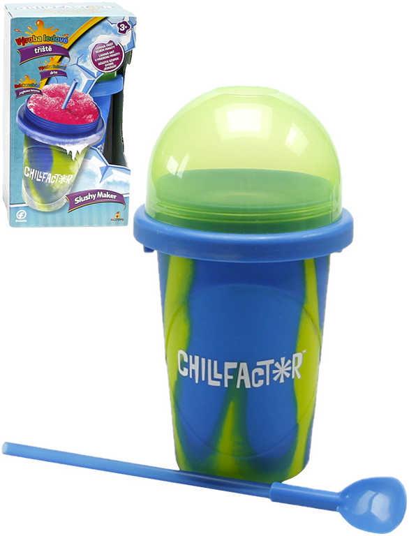 Chillfactor Slushy Maker výroba ledové tříště dětský shaker Modrozelený plast