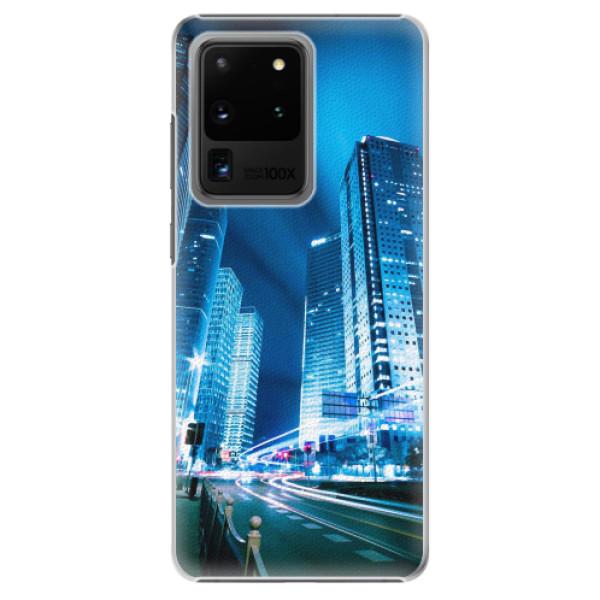 Plastové pouzdro iSaprio - Night City Blue - Samsung Galaxy S20 Ultra