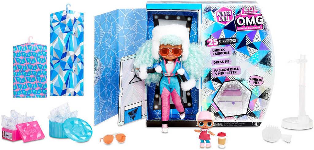 L.O.L. OMG Zimní velká ségra ICY GURL + extra LOL panenka 25 překvapení