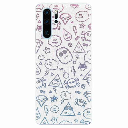 Silikonové pouzdro iSaprio - Funny Clouds - Huawei P30 Pro
