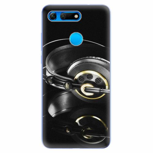 Silikonové pouzdro iSaprio - Headphones 02 - Huawei Honor View 20