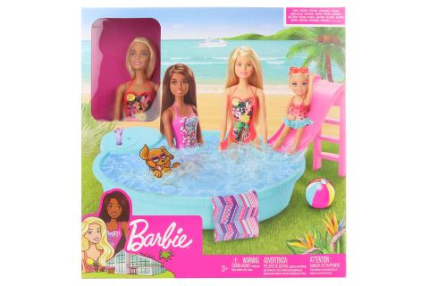 Barbie panenka a bazén GHL91