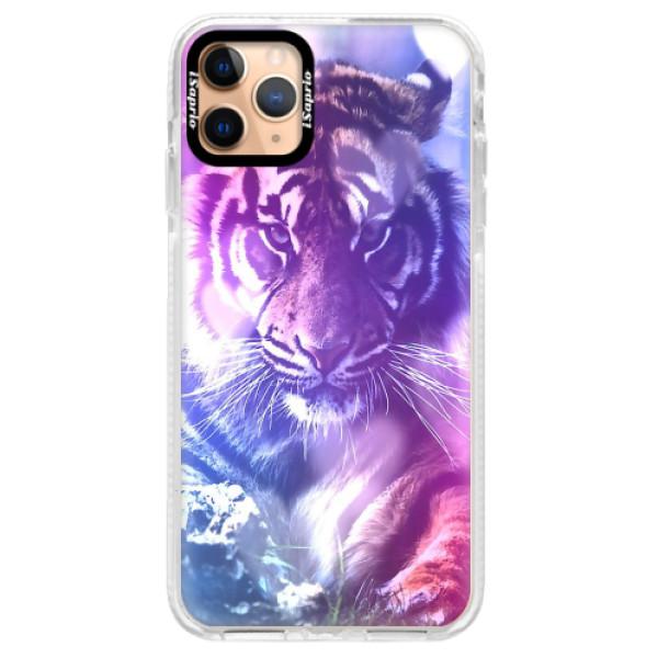 Silikonové pouzdro Bumper iSaprio - Purple Tiger - iPhone 11 Pro Max