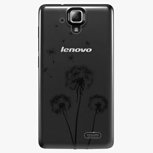 Plastový kryt iSaprio - Three Dandelions - black - Lenovo A536