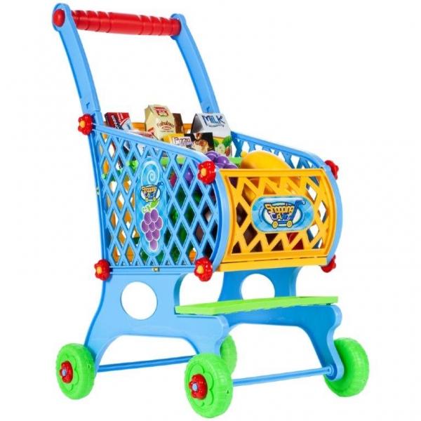 Tulimi Nákupní vozík s potravinami - modrý