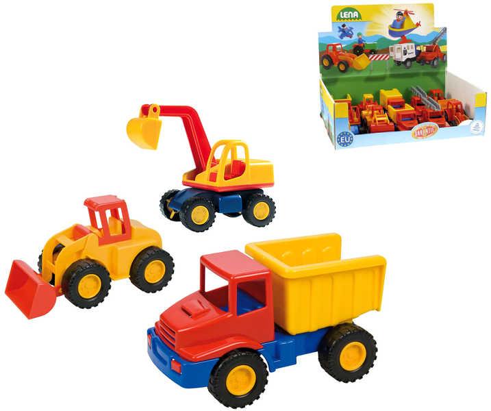 LENA Auto mini Compact stavební plast 12 cm 5 druhů