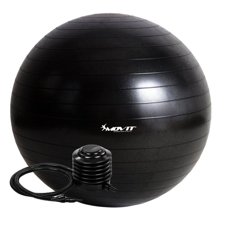 Gymnastický míč MOVIT s pumpou - 85 cm - černý