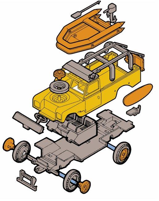 MONTI SYSTÉM 48 Auto Land Rover BAYWATCH stavebnice MS48 0101-48