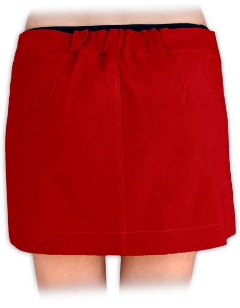 JOŽÁNEK Boková denim sukně nejen pro těhotné - červená - 42