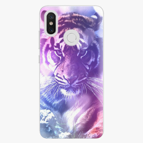 Plastový kryt iSaprio - Purple Tiger - Xiaomi Mi 8