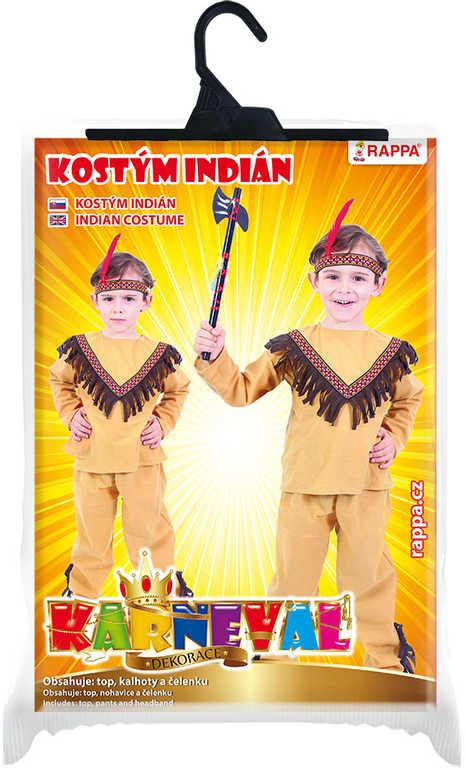 KARNEVAL Šaty indián vel.M (116-128cm) 6-8 let *KOSTÝM*