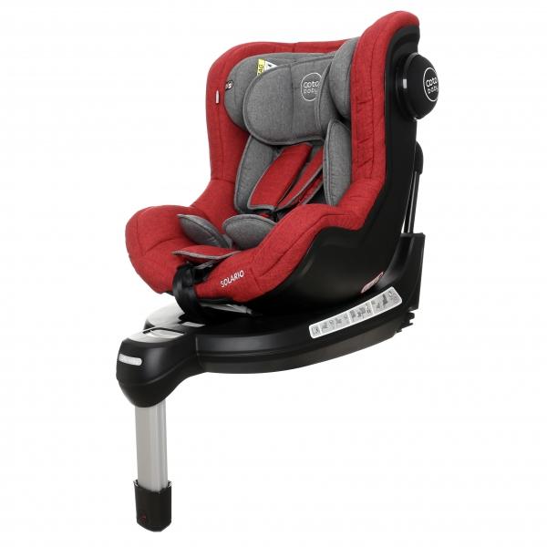 Coto Baby Autosedačka Solario s 360 ° otáčením, ISOFIX systémem, protisměr, 0-18 kg, red