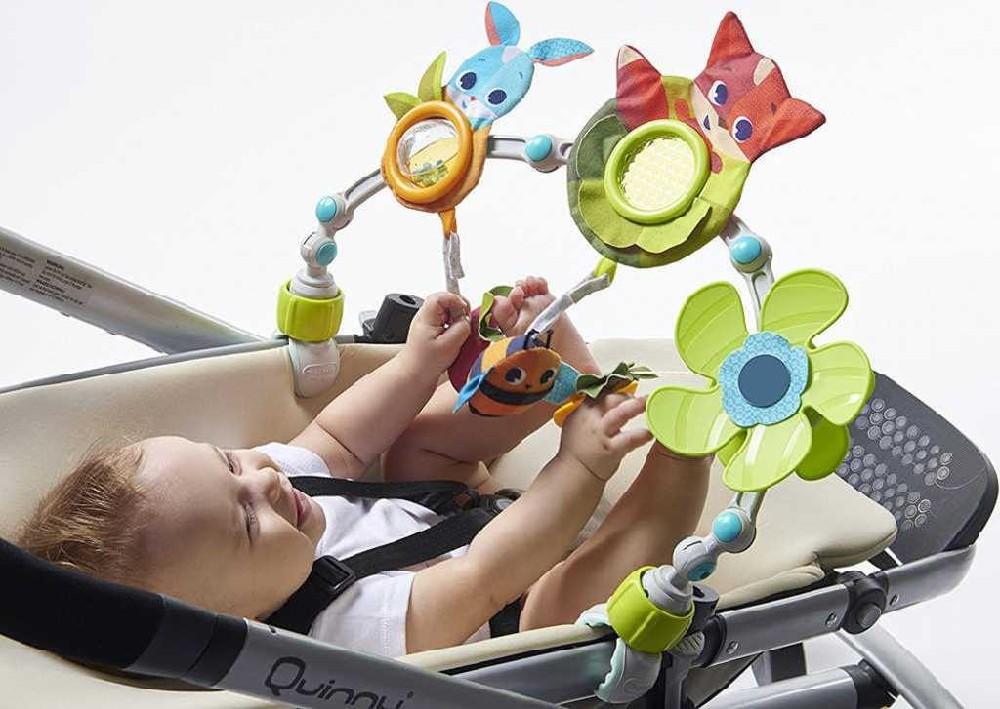 TINY LOVE Baby hrazda se zrcátkem na kočárek s chrastítkem a kousátkem pro miminko