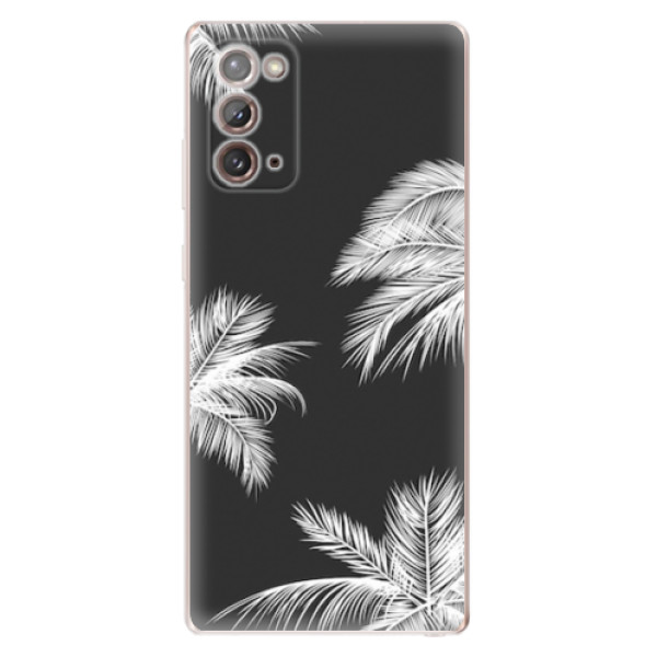 Odolné silikonové pouzdro iSaprio - White Palm - Samsung Galaxy Note 20