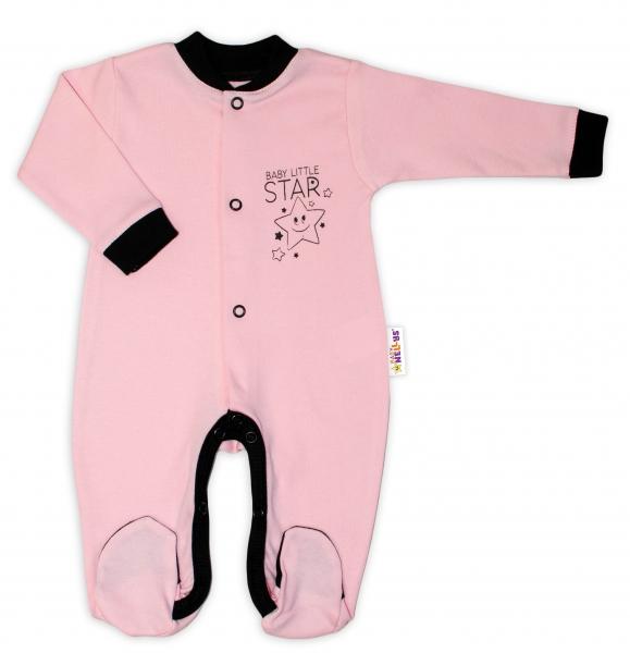 baby-nellys-bavlneny-overalek-baby-little-star-ruzovy-vel-74-74-6-9m