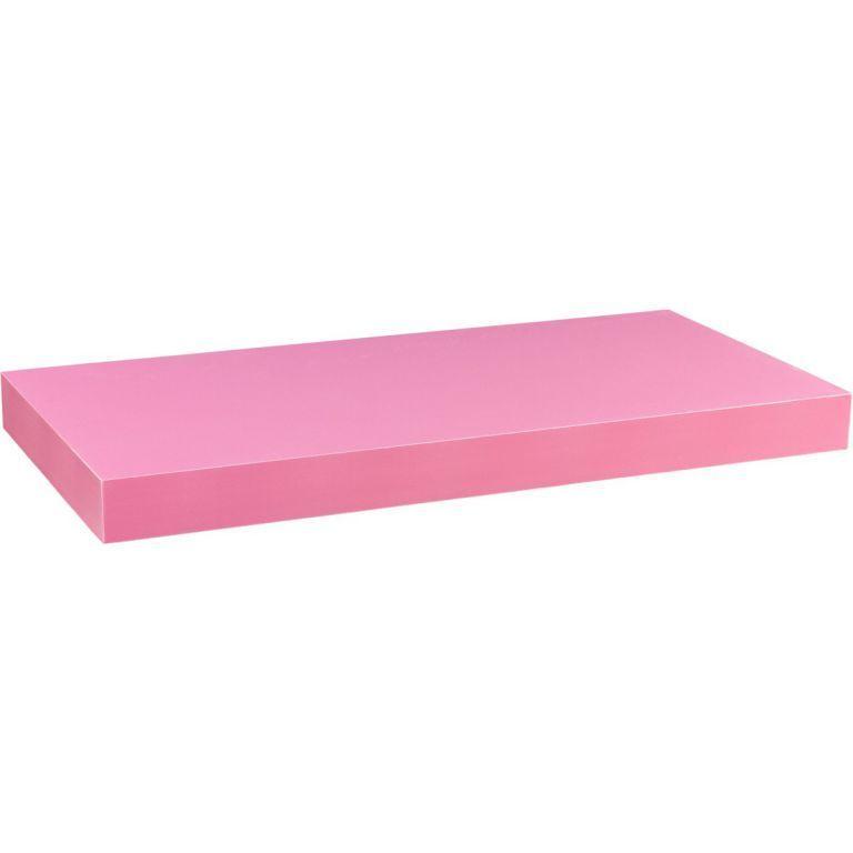 Stilista nástěnná police Volato, 100 cm, růžová