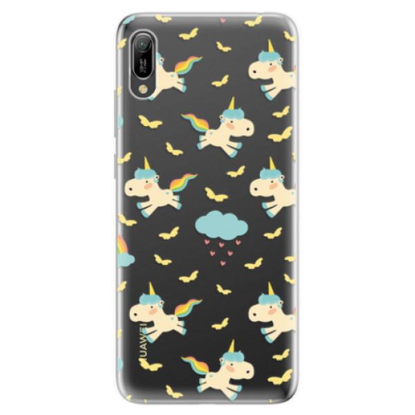 Odolné silikonové pouzdro iSaprio - Unicorn pattern 01 - Huawei Y6 2019