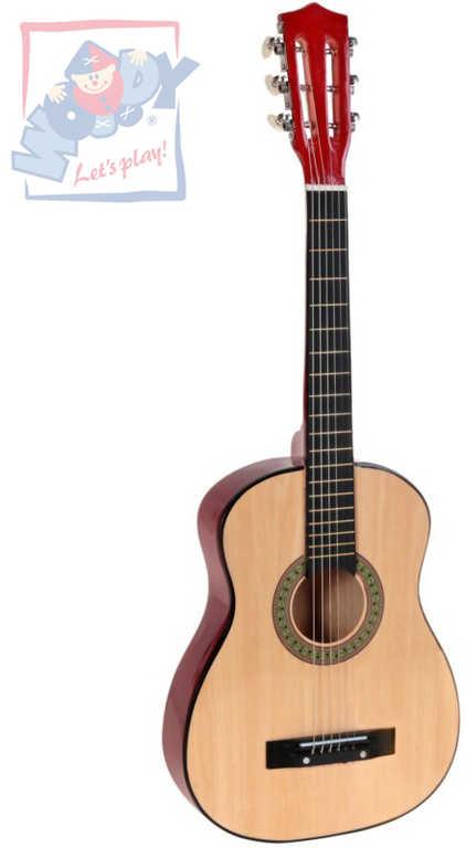 WOOD DŘEVO Kytara klasik dětská funkční 80cm lze ladit HUDEBNÍ NÁSTROJE